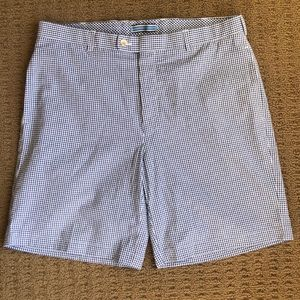 Peter Millar blue and white gingham short